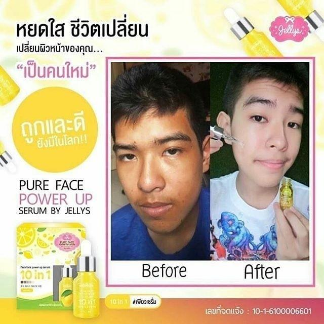 Pure face power up serum by jelly 100% ori frm Thai