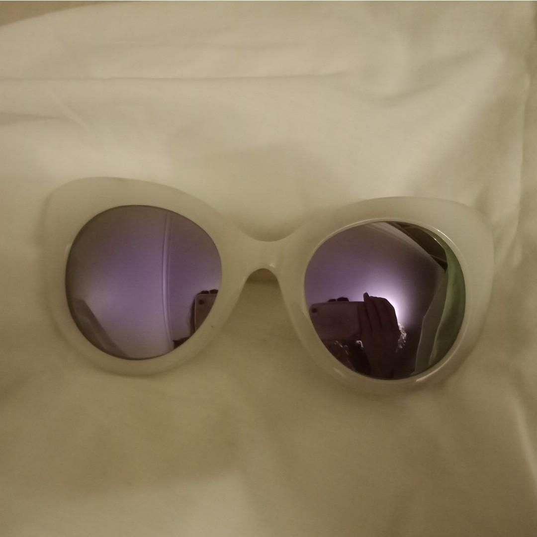 Quay purple lens sunglasses festival vibes