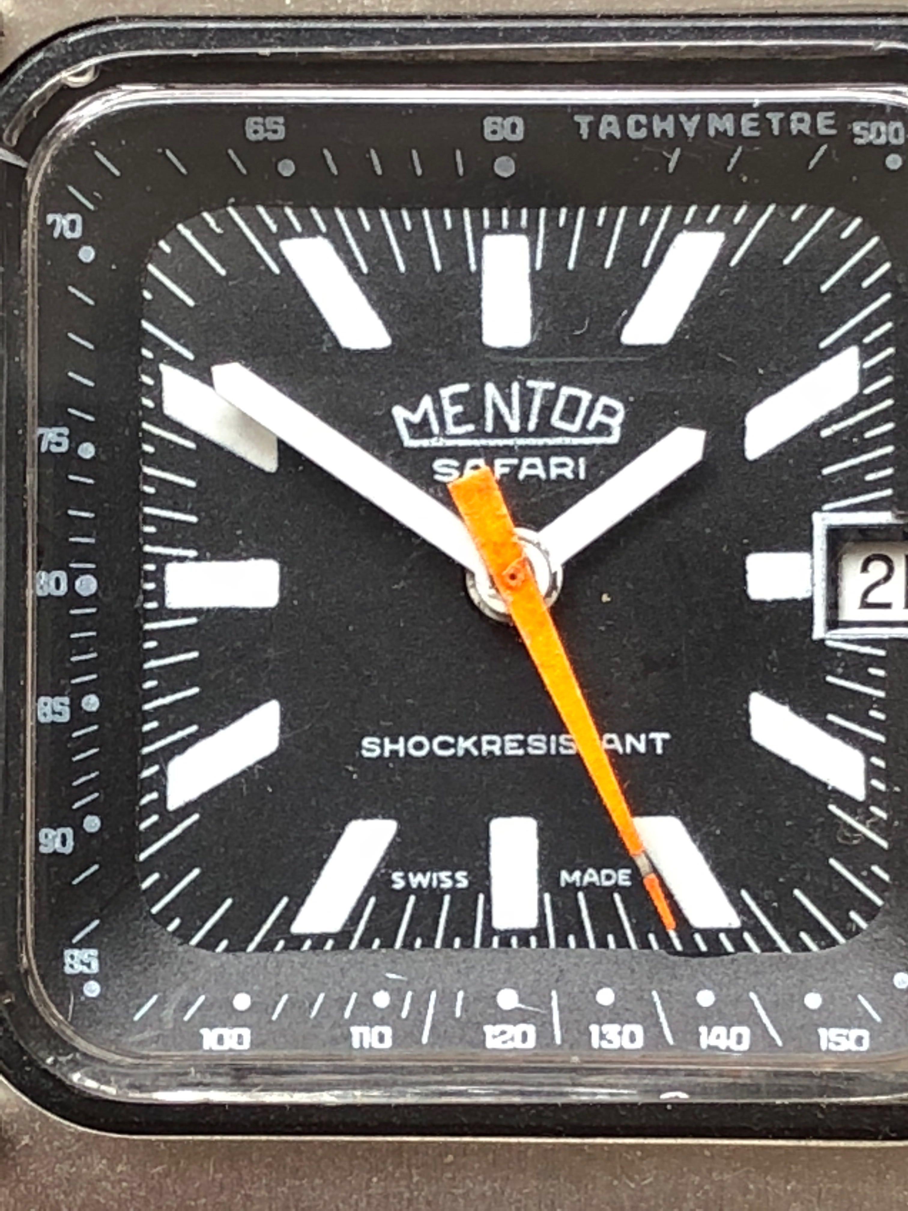 RARE!! Mentor Safari (Poor Man's Heuer) Swiss Watch