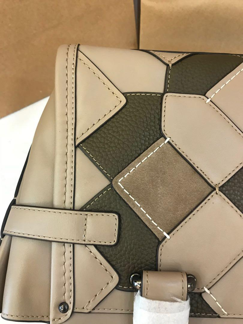 (Raya Promotion Ready Stock) Authentic Coach women beige swagger crossbody bag handbag sling bag