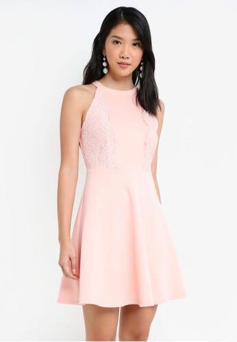Scallop Lace Trim Dress Womens Fashion Clothes Dresses