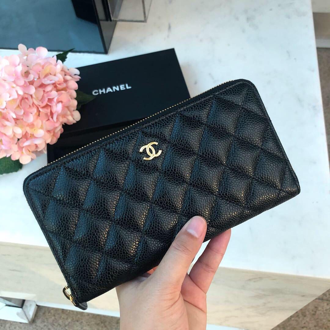 c73987283897 ✖️SOLD!✖ Below Sg Retail! Chanel Long Zip Around Wallet in ...
