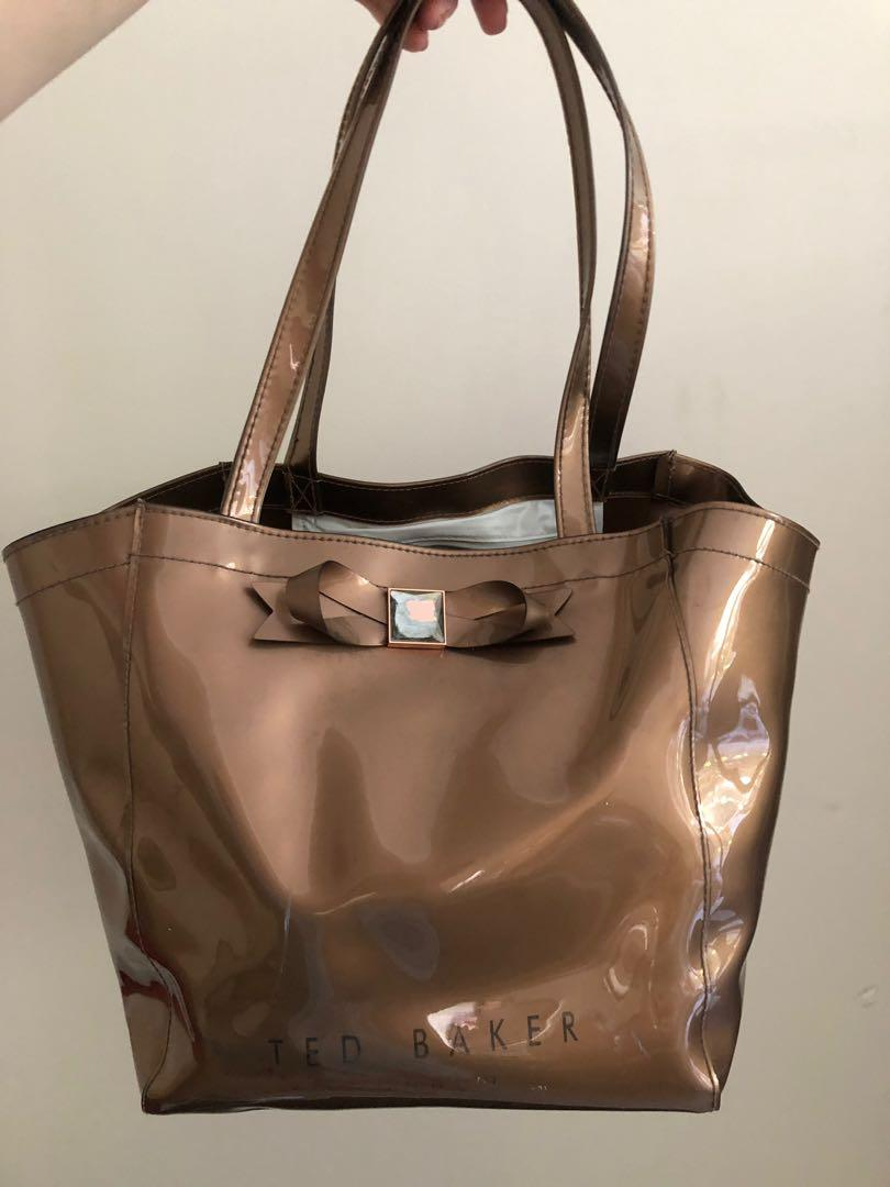 Ted Baker Bow Bag in brown/gold