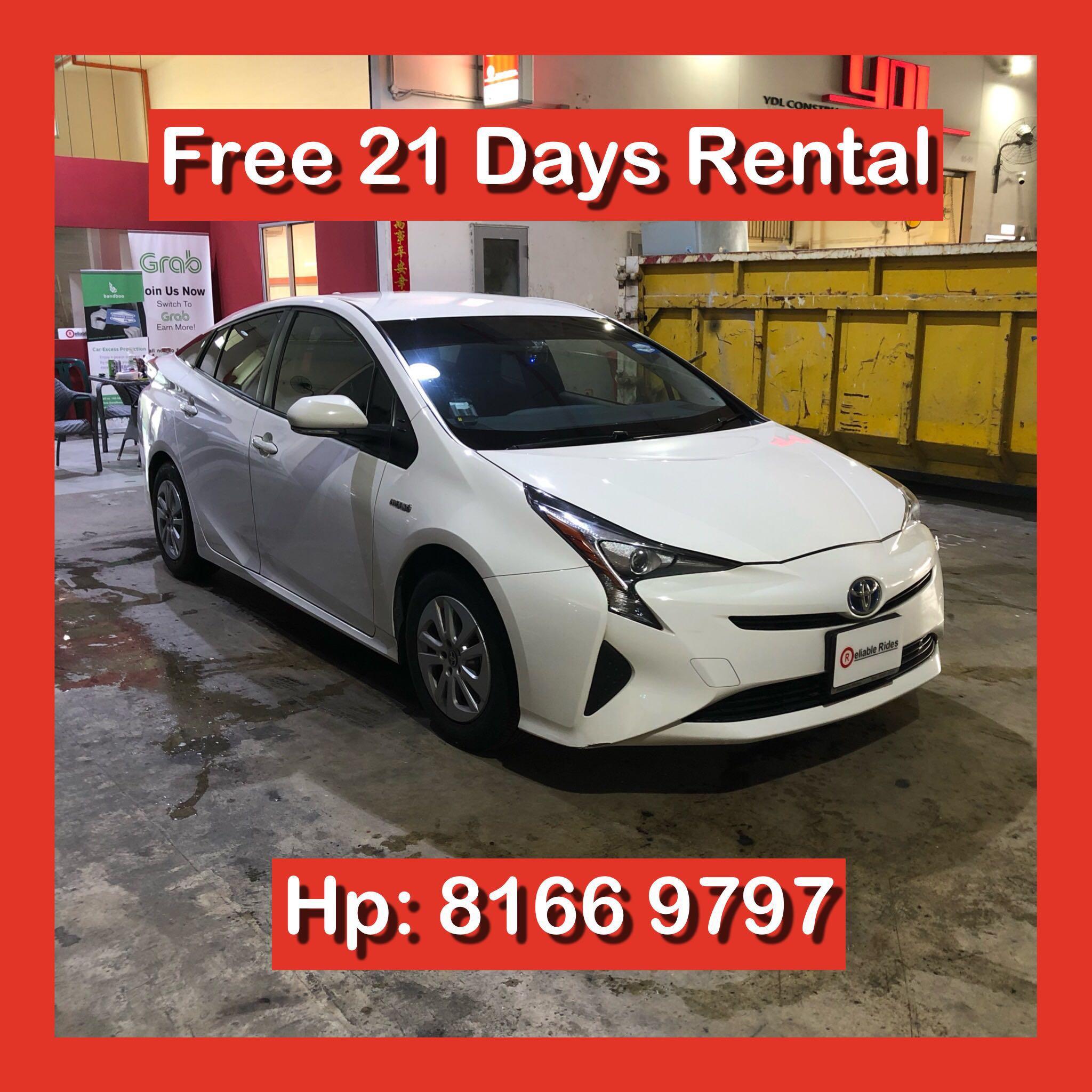 Toyota Prius 1 8 Auto Hybrid Grab Car Rental Cars Vehicle Rentals
