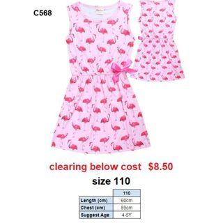 *CLEARANCE* Flamingo Dress C568