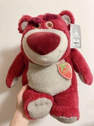 🚚 全新 迪士尼 正品 正版 代購 玩具總動員 熊抱哥 抱哥 草莓香 可愛 坐姿 娃娃 玩偶