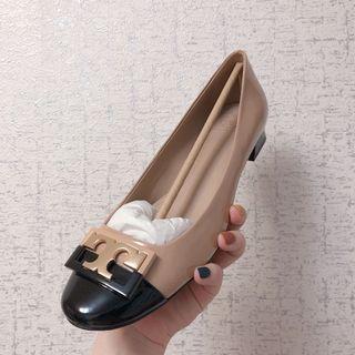 Shopbop 全新 Tory Burch Gigi Pump 裸色 包鞋 平底鞋 娃娃鞋 低跟鞋