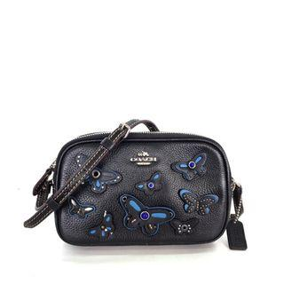 Coach Pouch Crossbody in Pebbled Leather with Butterfly Applique