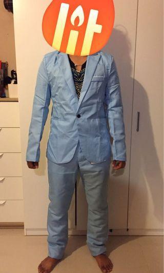 Suit ice blue