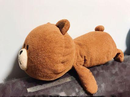 Line Friends 熊大 Brown 扮狗 枕頭 攬枕 大 公仔