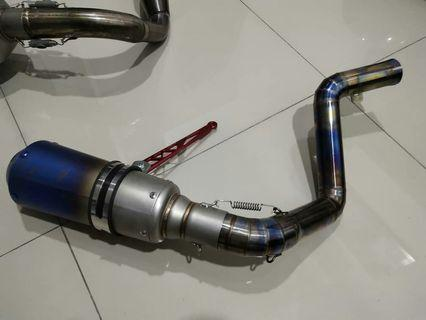 Muffler +pipe for ktm duke 200