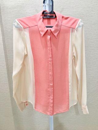 Forever 21 blouse kemeja kerja