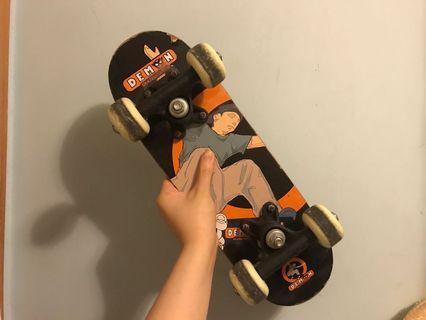 花式細滑板 型格復古 有正常使用痕跡 方便攜帶 少見 裝b 成人小童 mini skateboard