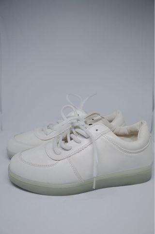 White Shoes with lamp