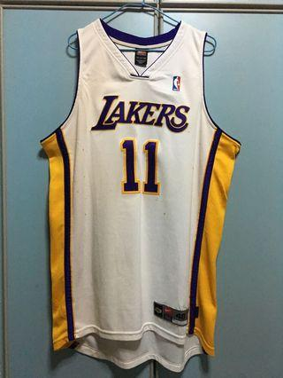 bf079a63924 Nike NBA LA Lakers Mailman Karl Malone authentic basketball jersey 48 XL
