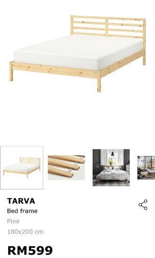 Ikea Tarva King size bed frame #RayaHome
