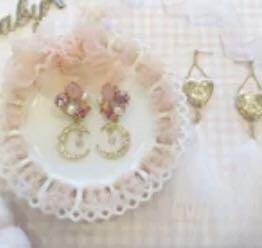💕 crystals moon earrings