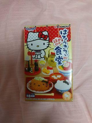 Sanrio Rement Hello Kitty Retro Diner 日式 食堂 食玩