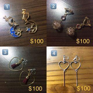 🚚 二手轉賣🉑矽膠、金屬夾式耳環👂🏻🌟