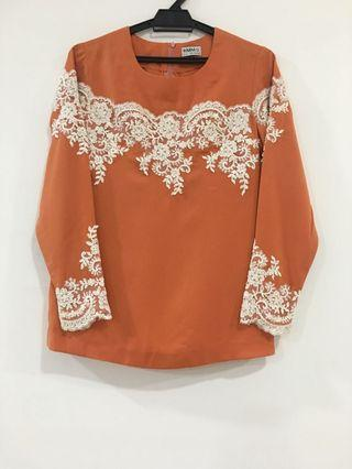 Custom blouse with lace detailing [NEW]