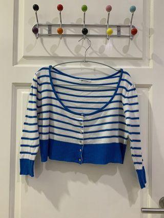 Blue Stripes Cardigan