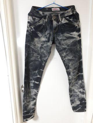 🚚 女裝 USED jeans閃電紋牛仔褲