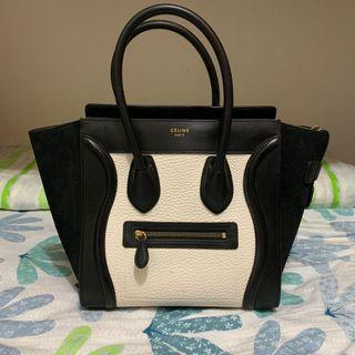 Celine Micro Luggage Tote in good condition