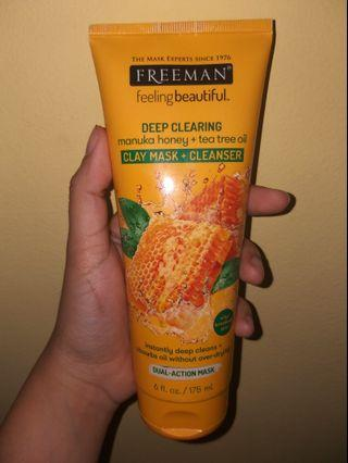 Freeman Deep Clearing Manuka Honey+Tea Tree Oil Clay Mask+Cleanser