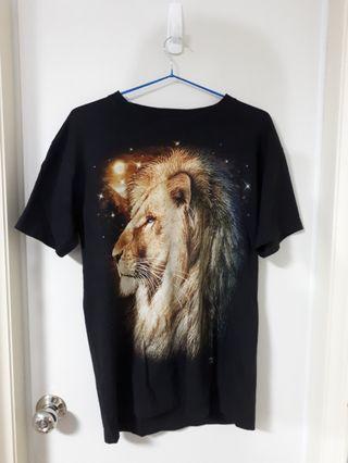 🚚 男女裝滿版獅子圖案T恤
