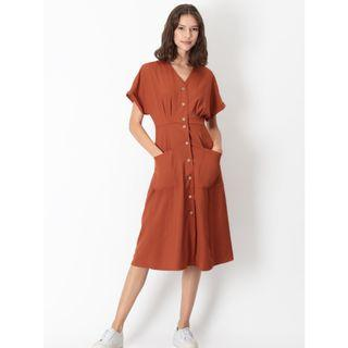 AFA AforArcade Kelly Pocket Dress in Rust (Size L)