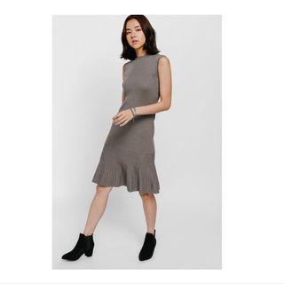LOVE BONITO Agiva Fluted Hem Knit Dress