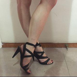 Calvin Klein black sandals 黑色高跟涼鞋