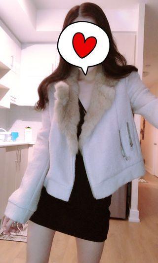 羊毛短版外套(降價