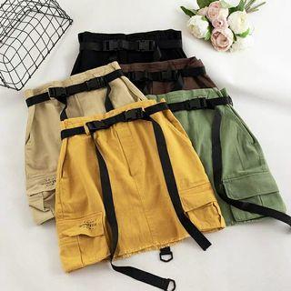 [PO] Korean style a-line cargo skirt