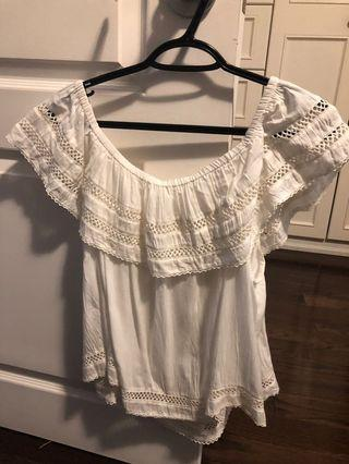Aritzia Wilfred Off the shoulder blouse