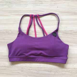 全新❤️S號品牌紫色彩條美背運動內衣