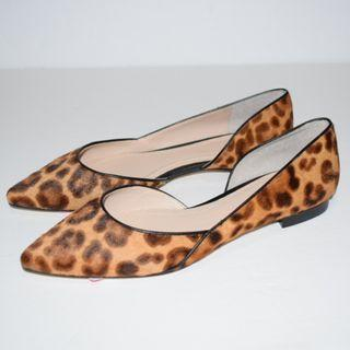 Marc Fisher Sunny Genuine Calf Hair Flat Leopard Print Size 6.5