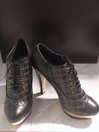 CHANEL Leather Quilted Booties (Authentic)