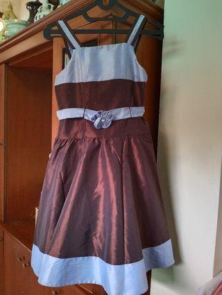 Dress 2 tone with ribbon