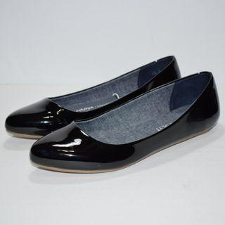 Dr Scholls Really Flats Black Patent Size 6.5