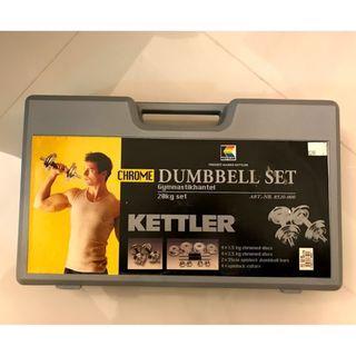 (包郵)健身啞鈴一對 20公斤 kettler 20kg weights set