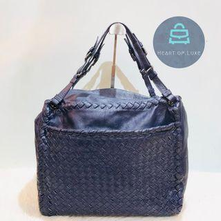 正品 BV Leather Handbag Tote Navy