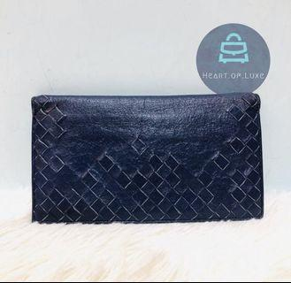 正品 BV Long Wallet Navy