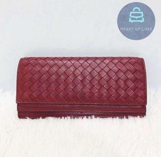 正品 BV Long Wallet wind red 棗紅 長銀包