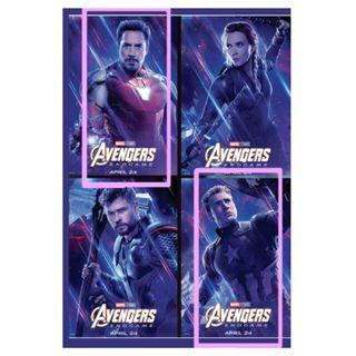 Avengers 4 EndGame poster 復仇者聯盟4 終局之戰 電影海報 Iron Man Captain America