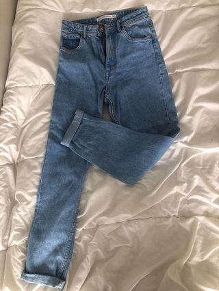 Zara Mom Jeans Washed Out