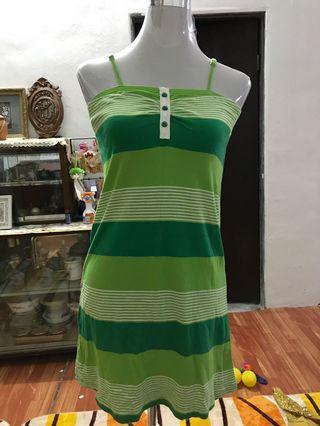 Green stripes girl
