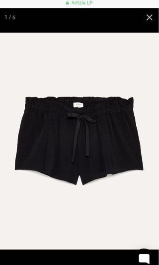 Aritzia Wilfred Black Montrouge Shorts