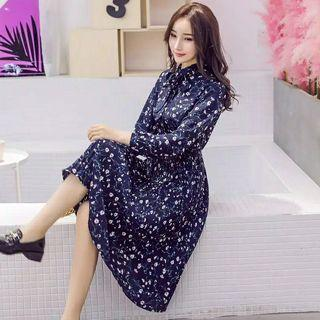 dress vintage korea motif flower