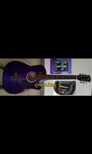 A&K Semi Acoustic Guitar 38Inch Purple